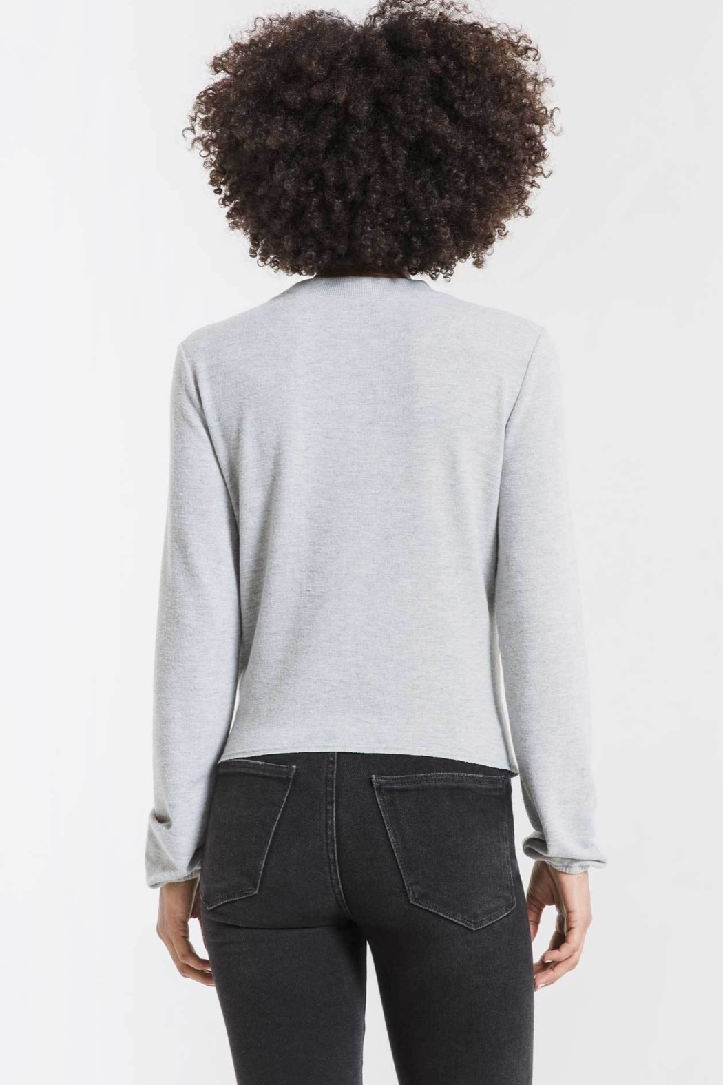 z supply Soft Spun Ruched Long Sleeve Top - Front Full Image