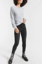 z supply Soft Spun Ruched Long Sleeve Top - Product Mini Image