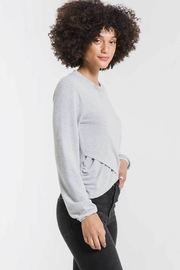 z supply Soft Spun Ruched Long Sleeve Top - Side cropped
