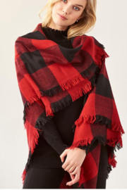 Giftcraft Inc.  Soft Square Blanket Scarf - Front cropped