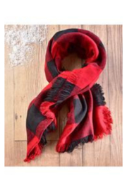 Giftcraft Inc.  Soft Square Blanket Scarf - Front full body