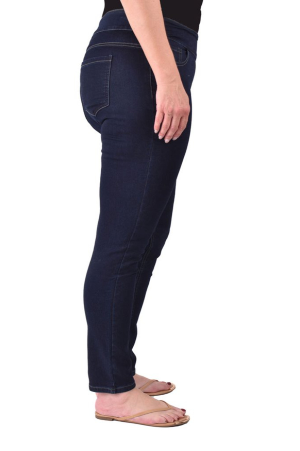Ethyl  Soft stretch skinny classic jean. All seasons. Pull-on waist. - Side Cropped Image
