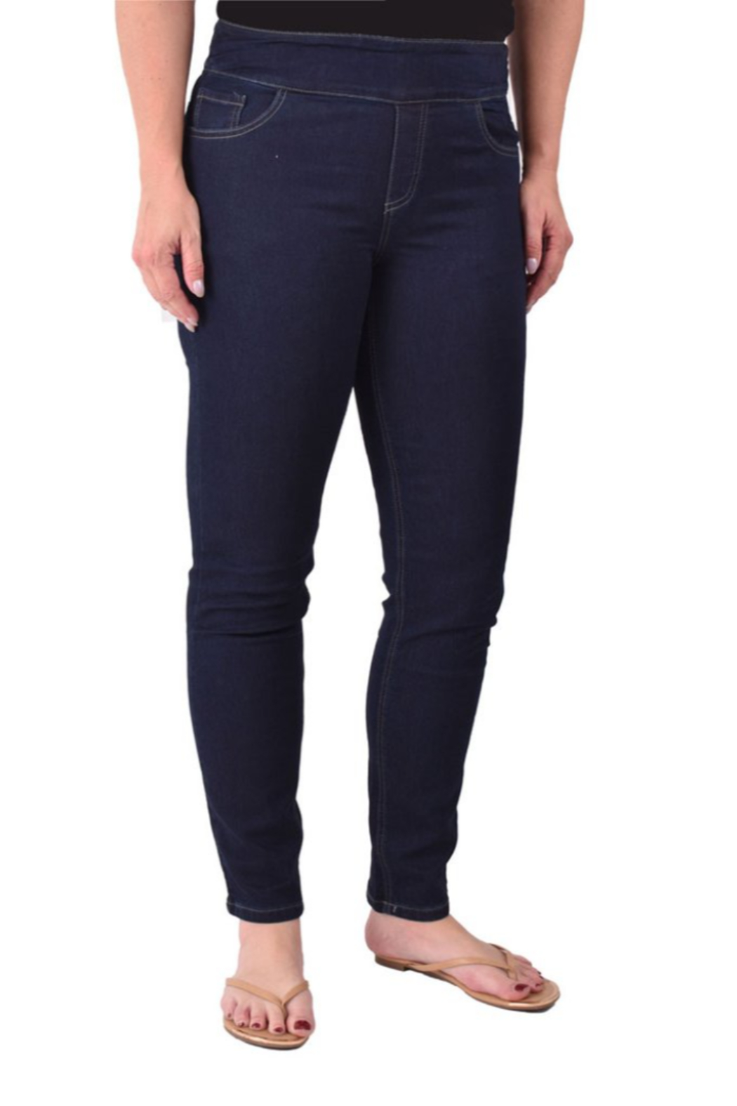 Ethyl  Soft stretch skinny classic jean. All seasons. Pull-on waist. - Main Image