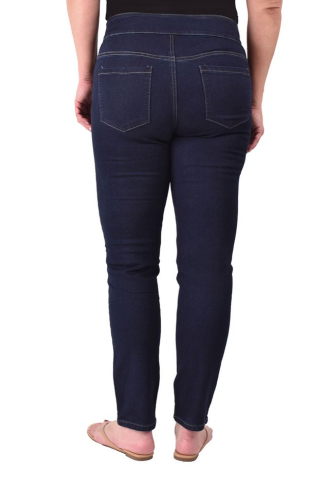 Ethyl  Soft stretch skinny classic jean. All seasons. Pull-on waist. - Front Full Image