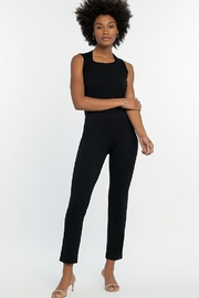 Nic + Zoe Soft stretchy slim black pant - Front cropped