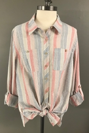 Mutiples Soft Stripe Shirt - Product Mini Image