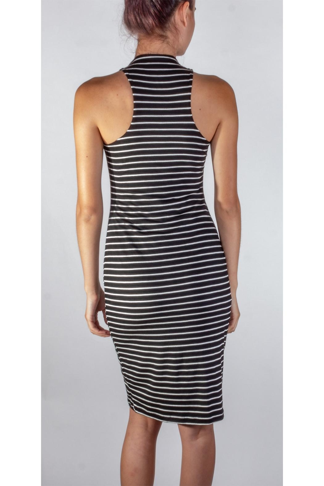 Final Touch Soft Striped Bodycon - Back Cropped Image