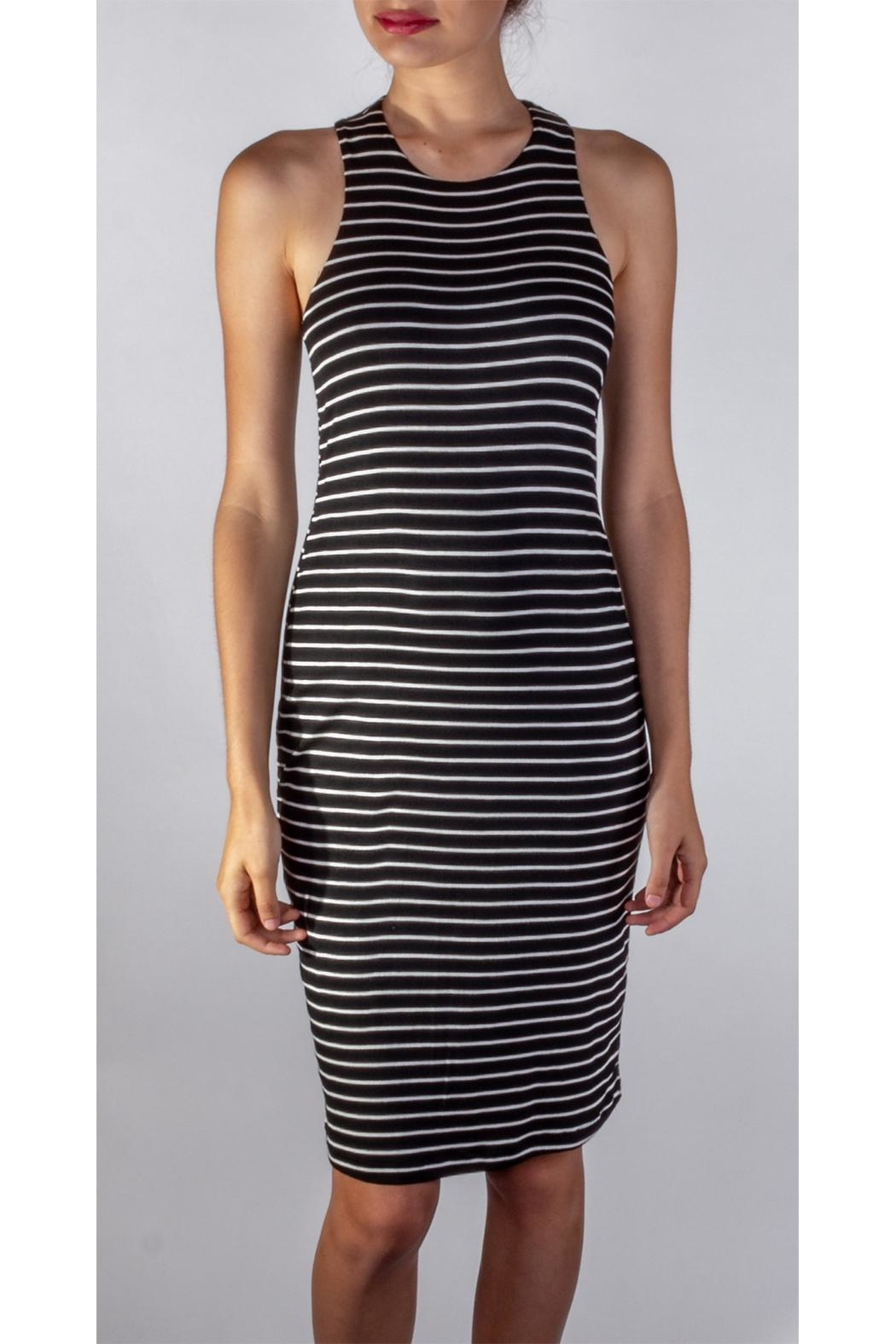 Final Touch Soft Striped Bodycon - Front Full Image