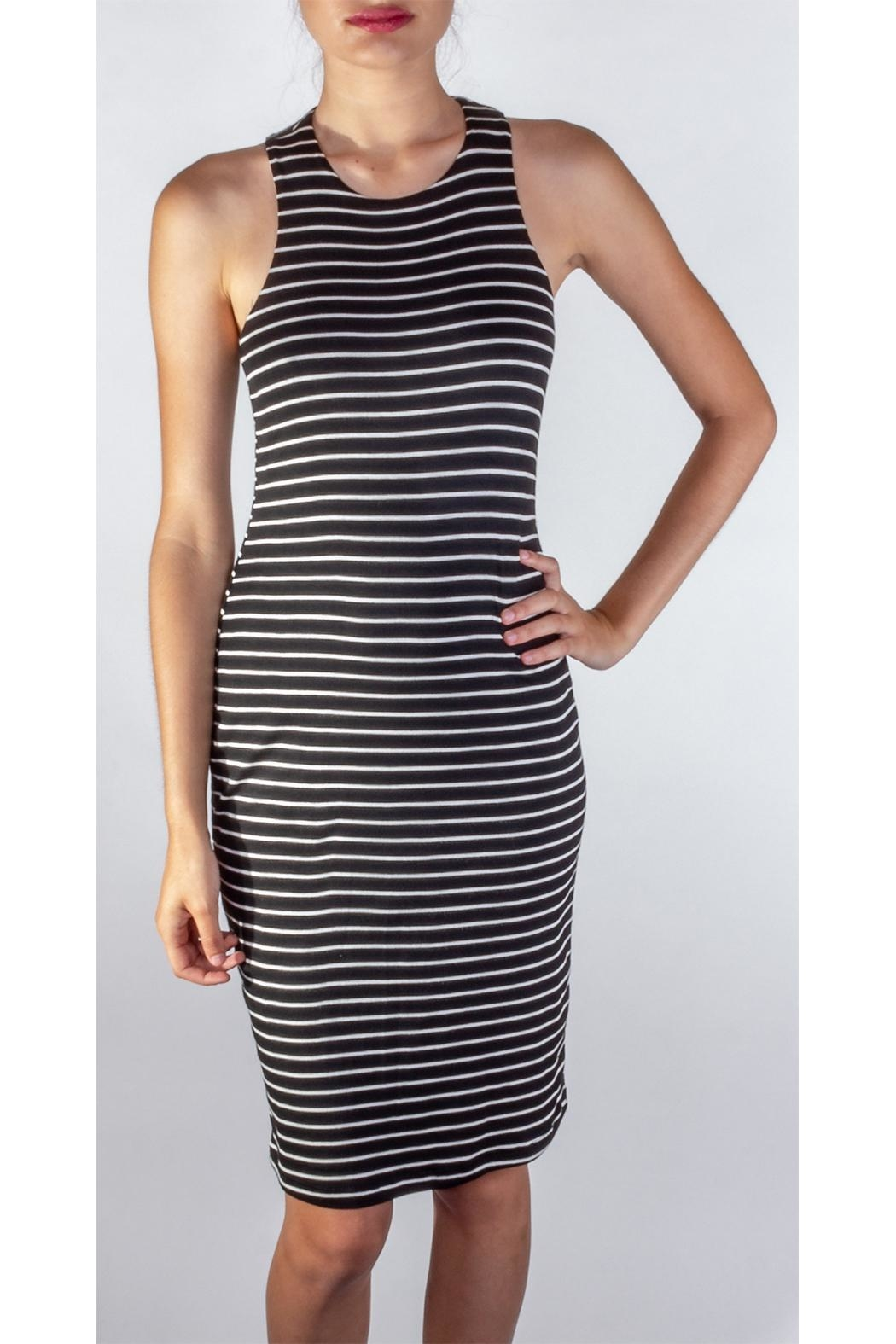 Final Touch Soft Striped Bodycon - Main Image