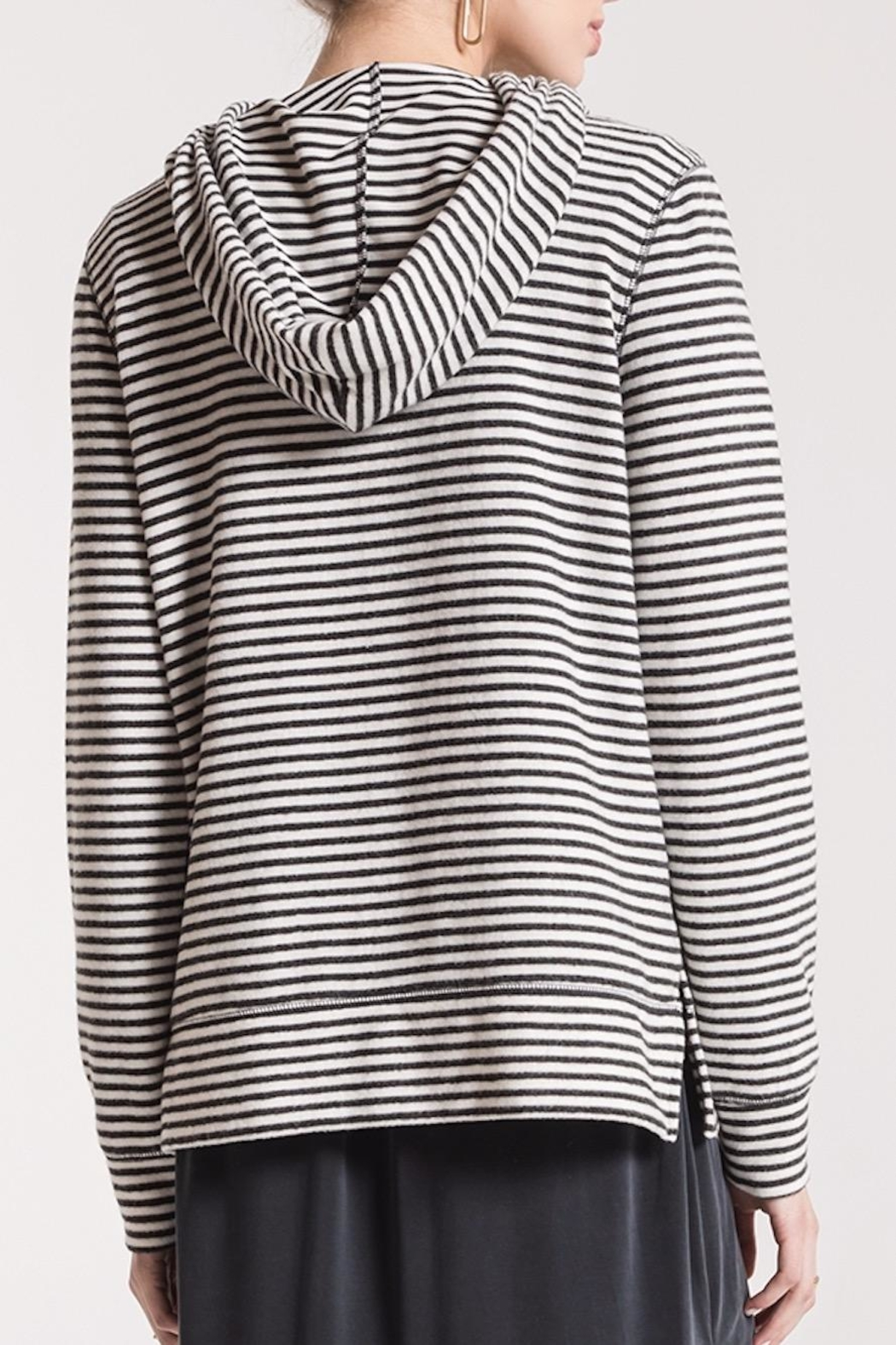 z supply Soft Striped Hoodie - Front Full Image