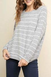 Umgee USA Soft Striped Pullover - Product Mini Image