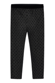 Mayoral Soft Suede Dot Leggings - Front cropped