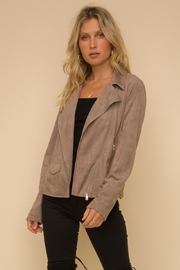 Hem & Thread Soft Suede Moto Jacket - Product Mini Image