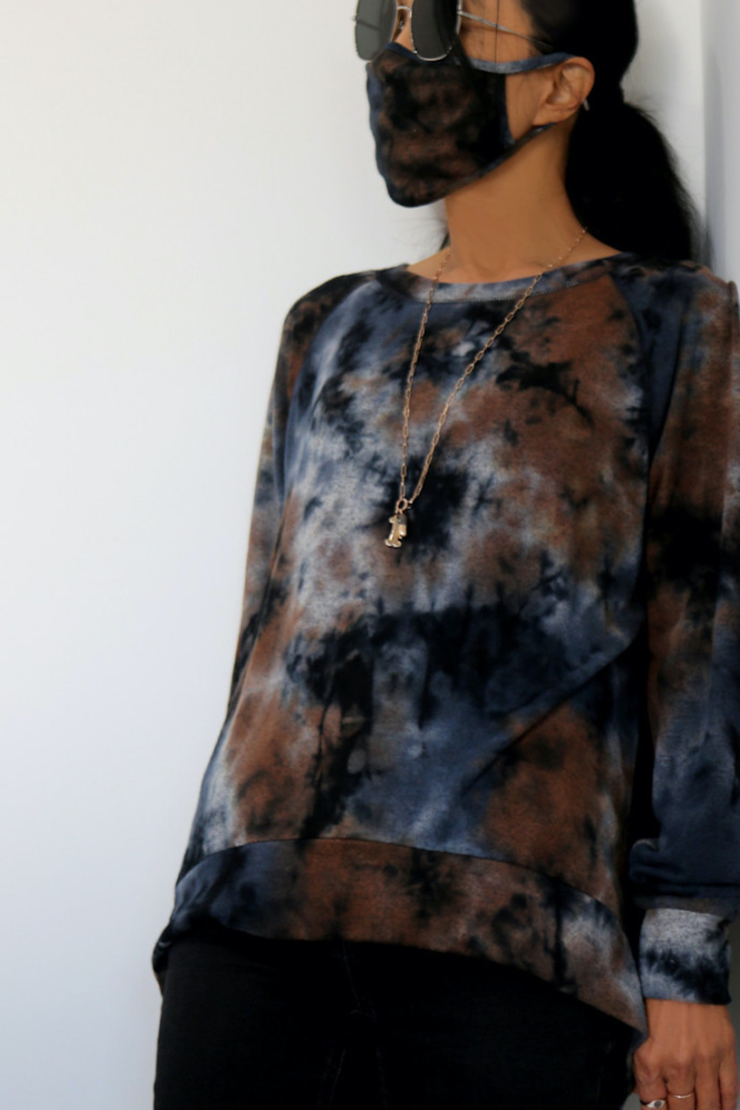 Coin 1804 Soft Tie Dye Sweatshirt - Back Cropped Image