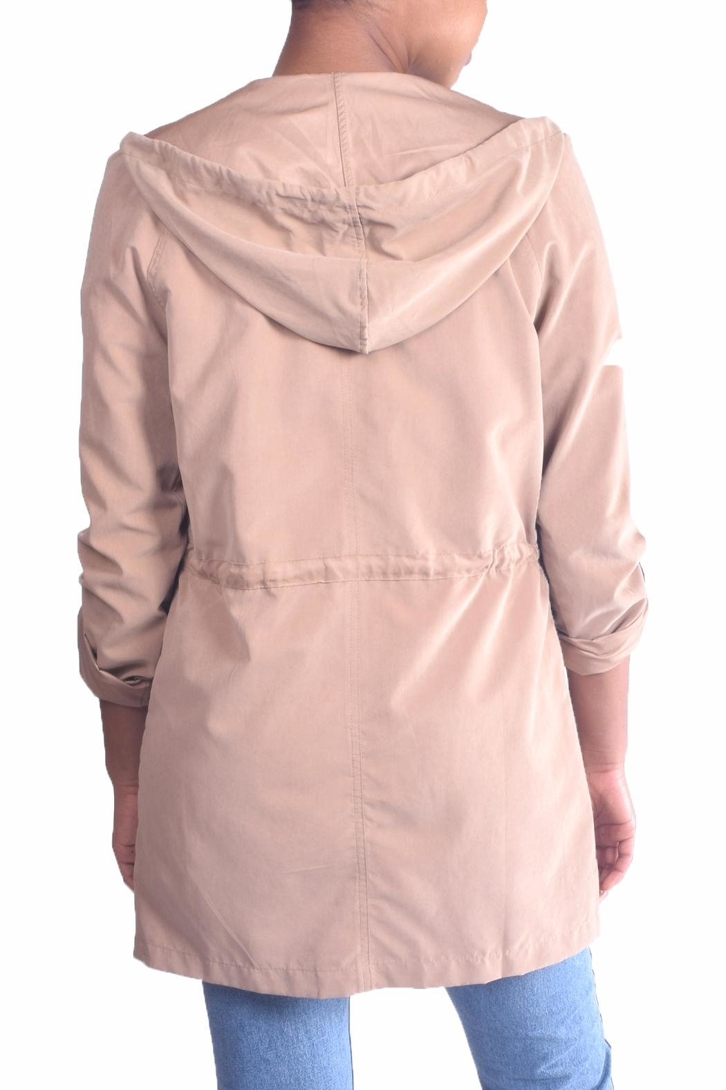 Love Tree Soft Twill Trenchcoat - Side Cropped Image