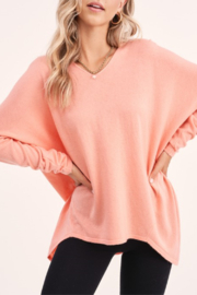 LA MIEL  Soft V-neck Sweater - Product Mini Image