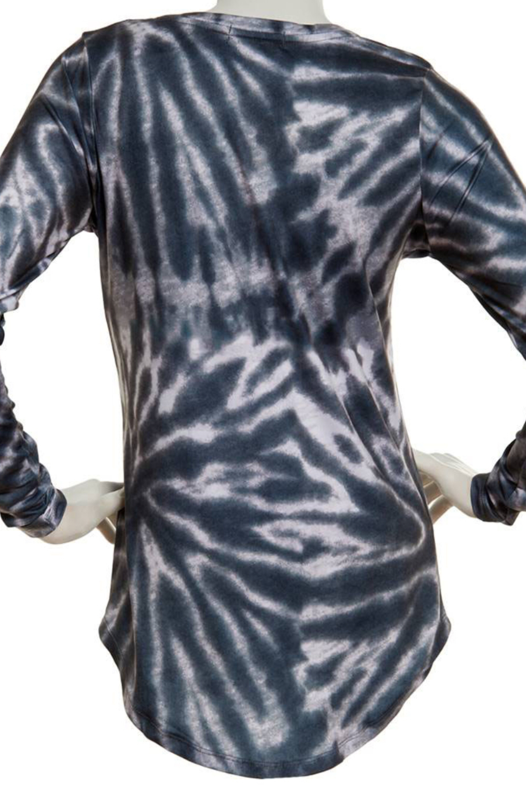 Poof Soft V Neck Tie Dye long sleeve top - Front Full Image