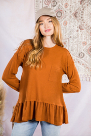 Very J  Soft Waffle Knit Tunic Top - Front cropped
