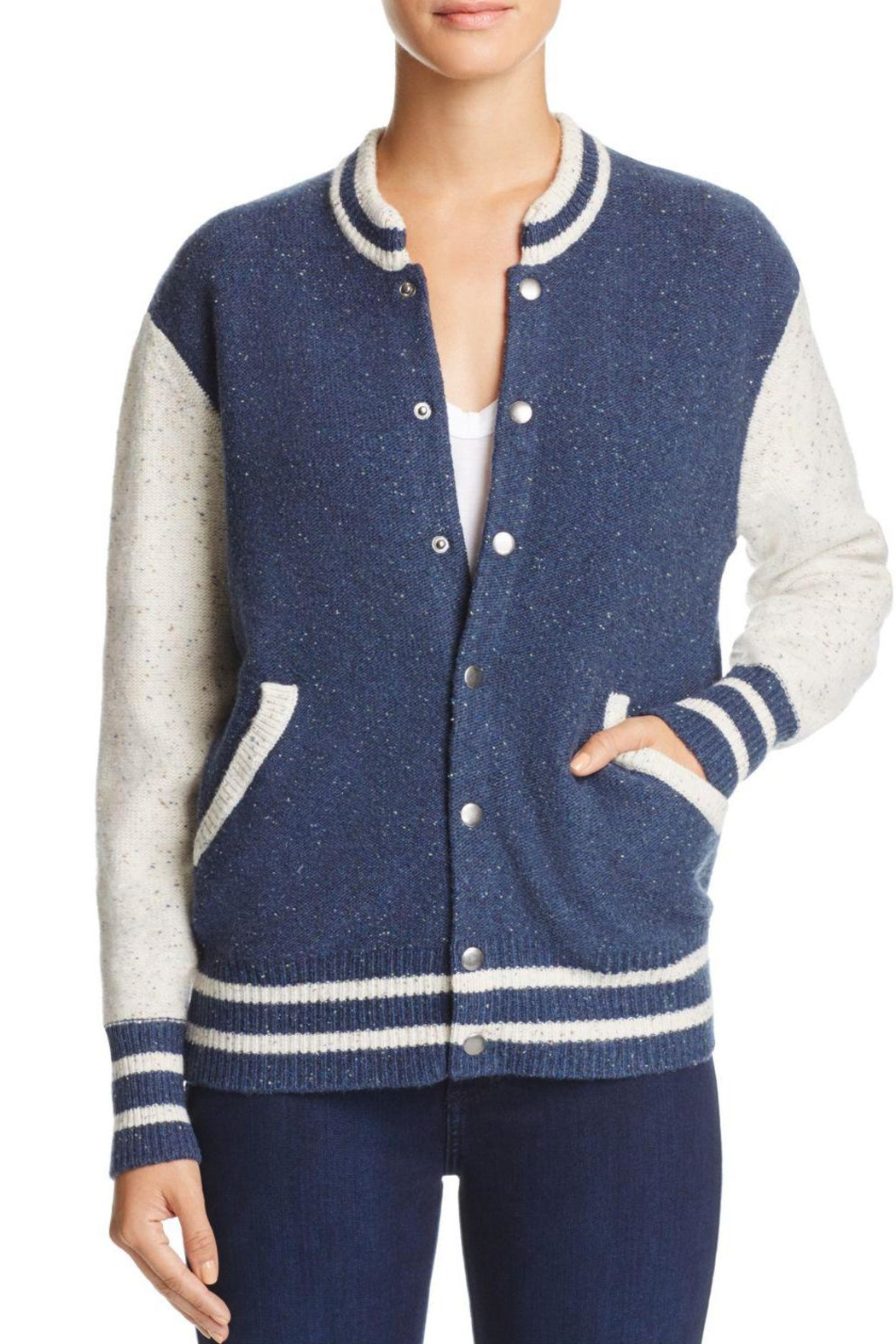 Joie Blakesly Varsity Sweater - Front Cropped Image