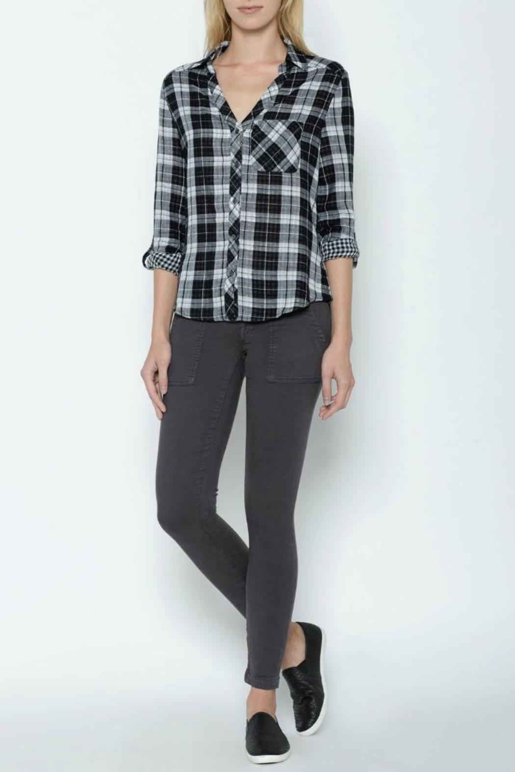 Joie Cydnee Plaid Shirt - Side Cropped Image