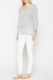Soft Joie White Patterned Tassle Top - Side cropped