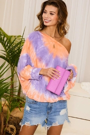 Mainstrip Softest Boat Neck Tie Dye Top - Product Mini Image