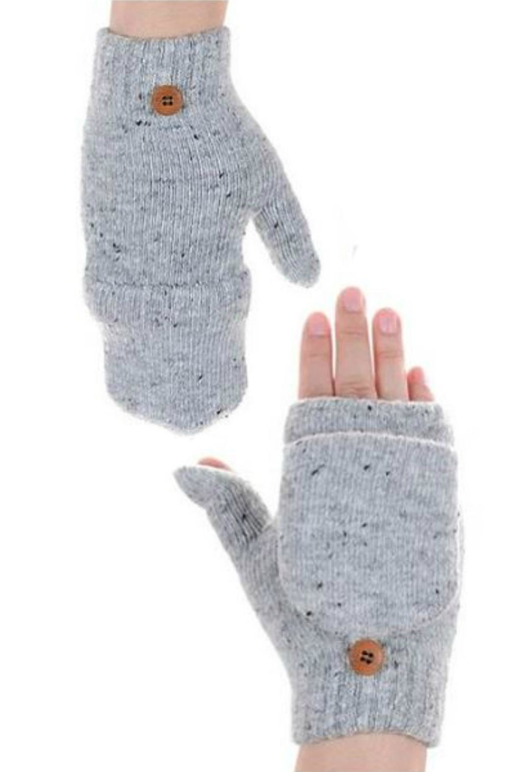 Embellish Softest Fingerless Mittens - Front Cropped Image