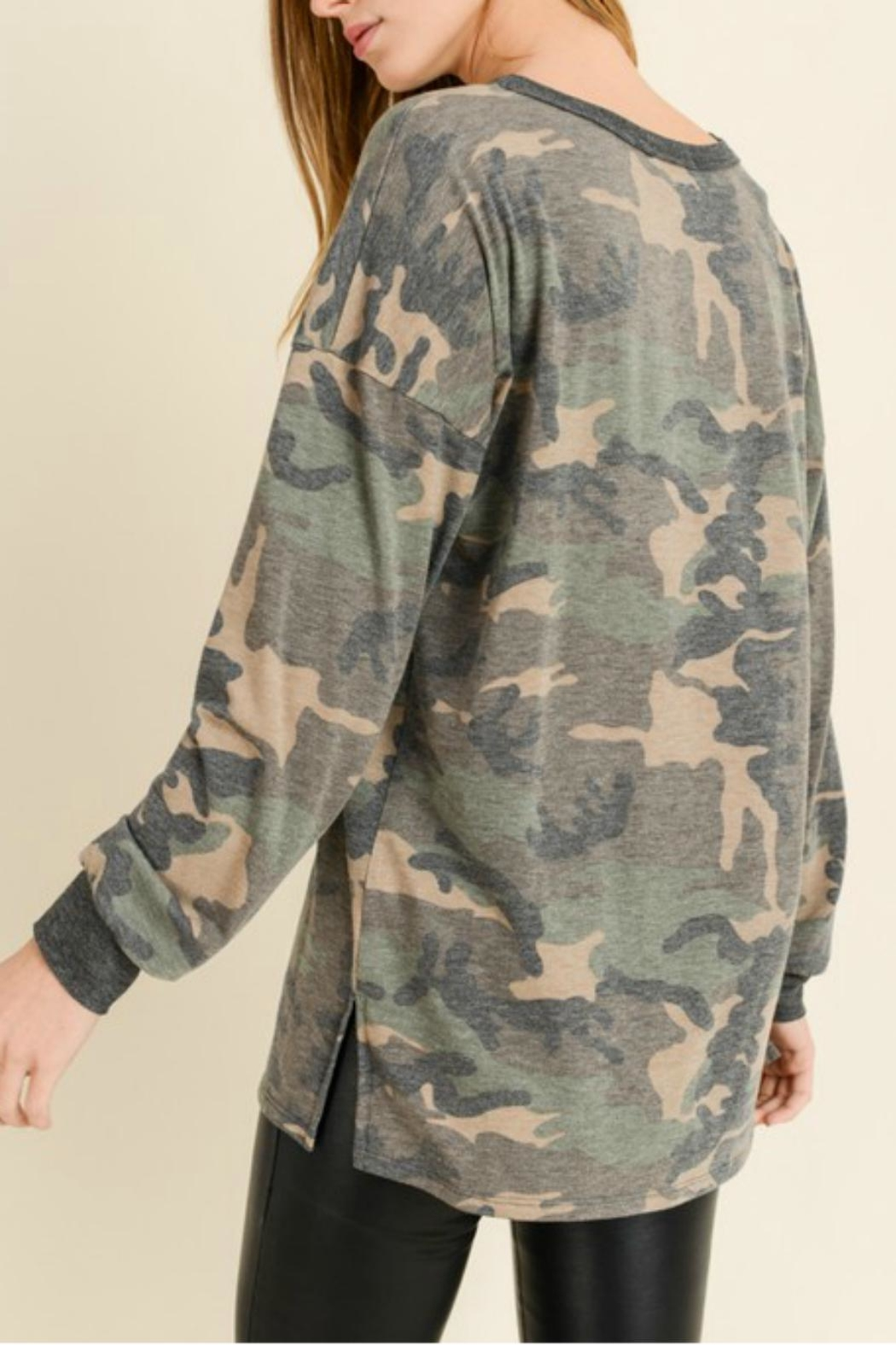 Pretty Little Things Softie Camo Top - Front Full Image
