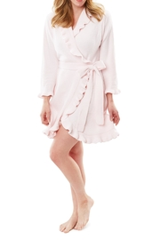 Softies Chenille Ruffle Robe - Front cropped