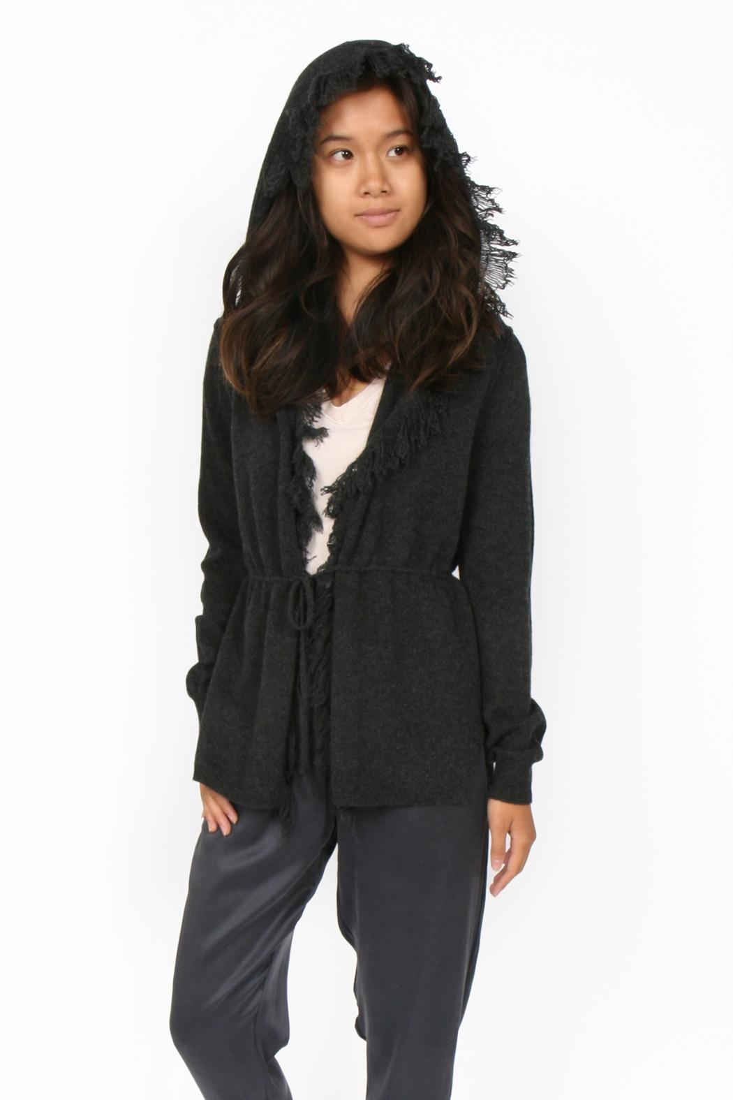 SOH Cashmere Fringe Hoodie - Front Cropped Image