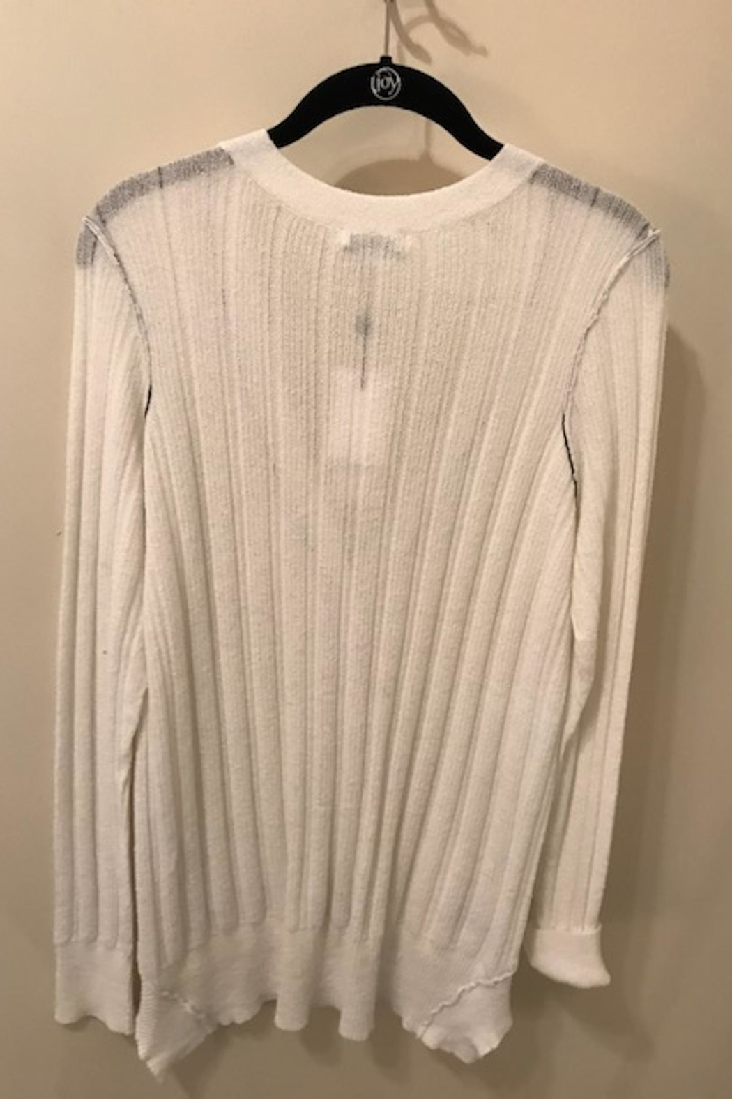 SOH White Cardigan Sweater - Front Full Image