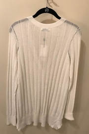 SOH White Cardigan Sweater - Front full body