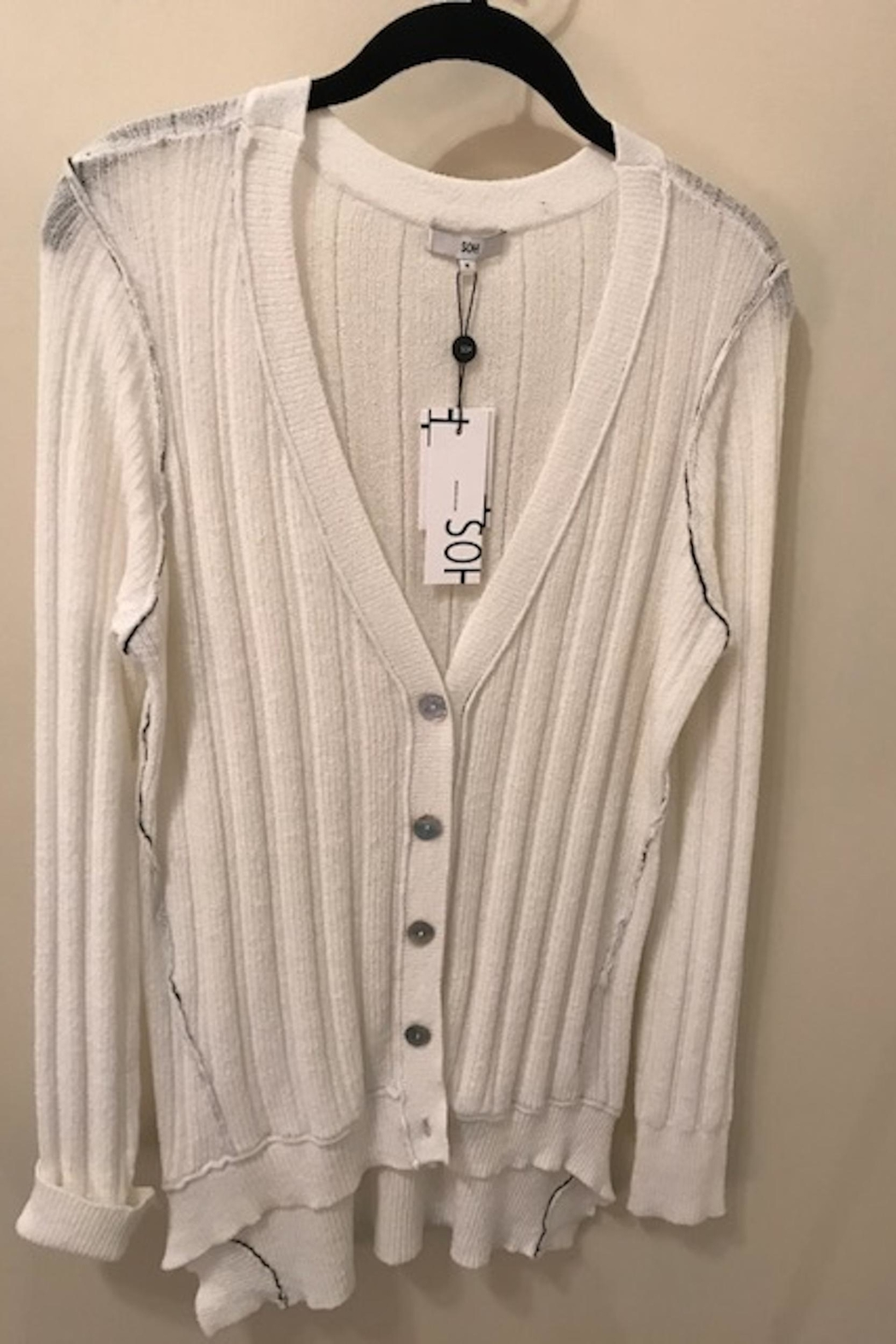 SOH White Cardigan Sweater - Main Image