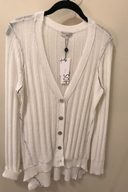 SOH White Cardigan Sweater - Front cropped