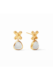 Julie Vos SoHo Midi Earring-Gold/Iridescent Clear Crystal - Product Mini Image