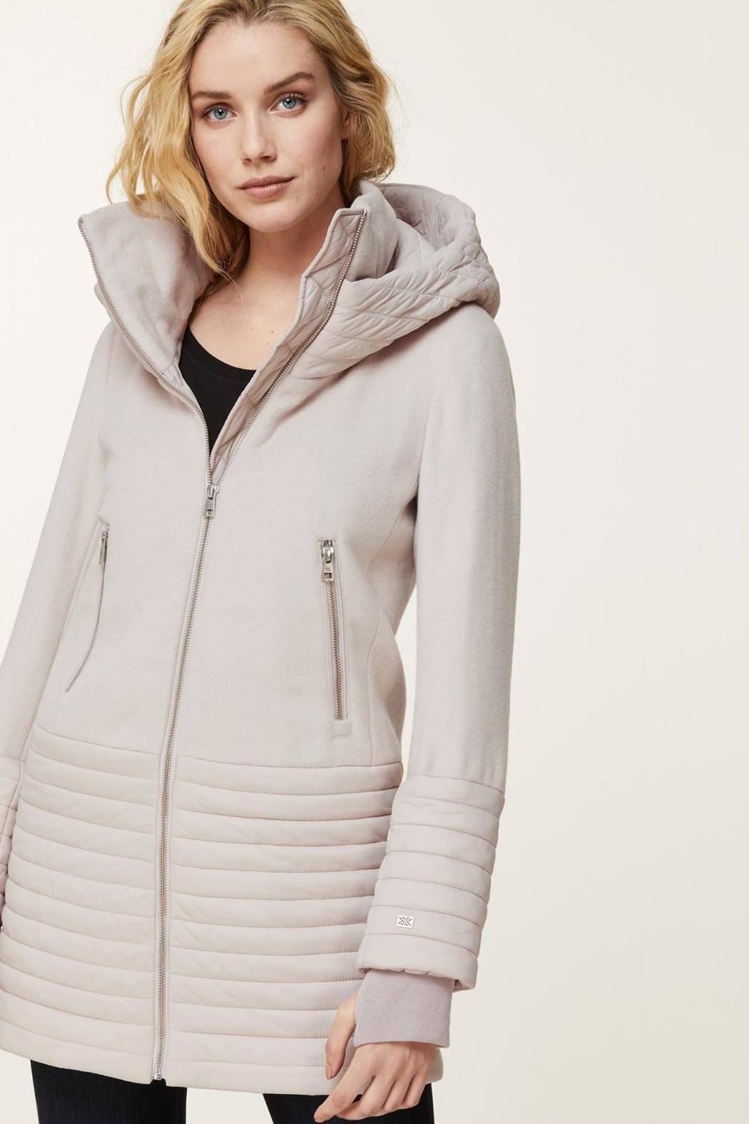 Soia & Kyo Avery Hooded Coat - Side Cropped Image