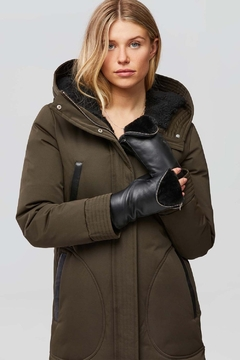 Shoptiques Product: Betrice Faux Fur Lined Leather Mittens