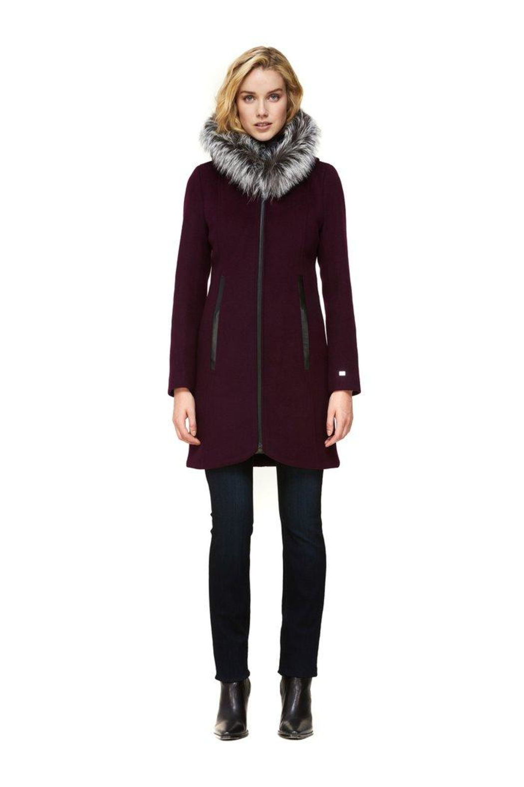 Soia & Kyo Charlena-Xn Wool Coat - Front Cropped Image