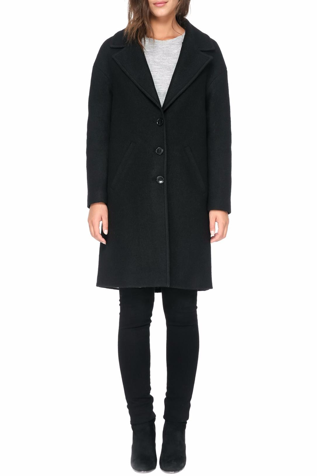 Soia & Kyo Christelle R Wool Coat - Back Cropped Image