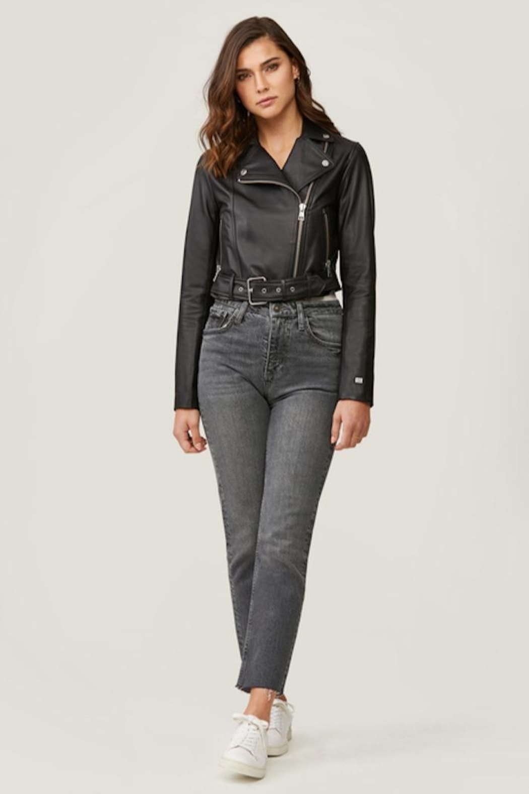 Soia & Kyo Clodia Leather Jacket - Front Cropped Image