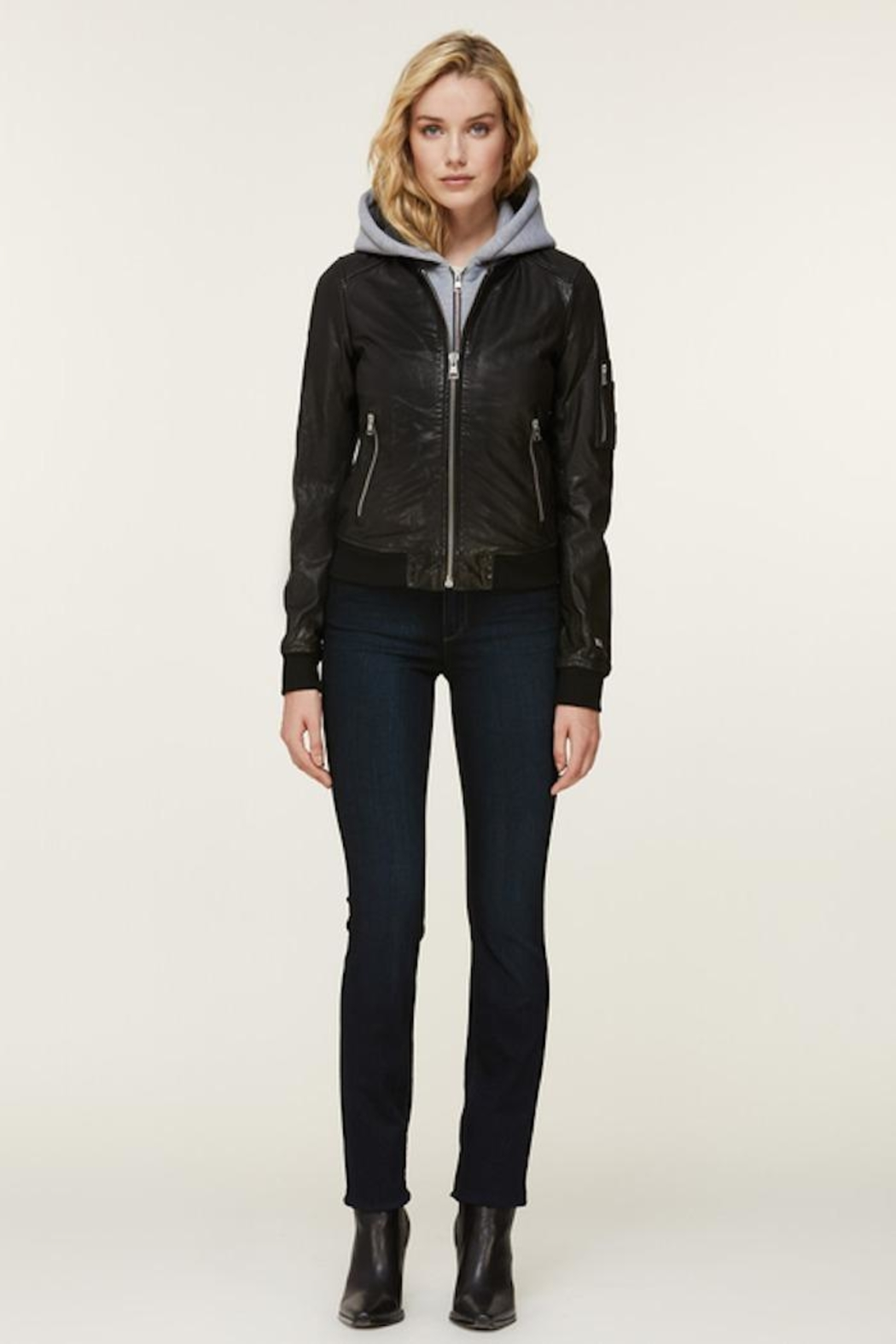 Soia & Kyo Farica-N Leather Jacket - Front Full Image