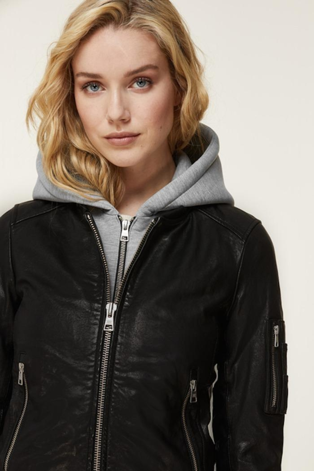 Soia & Kyo Farica-N Leather Jacket - Side Cropped Image