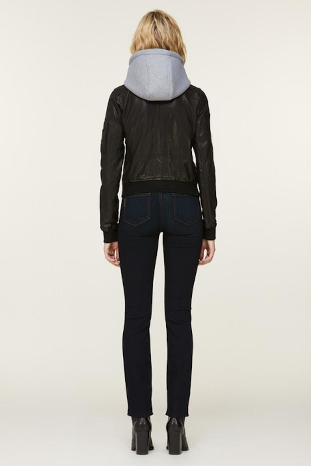 Soia & Kyo Farica-N Leather Jacket - Back Cropped Image
