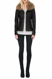 Soia & Kyo Fionna Leather Jacket - Front full body