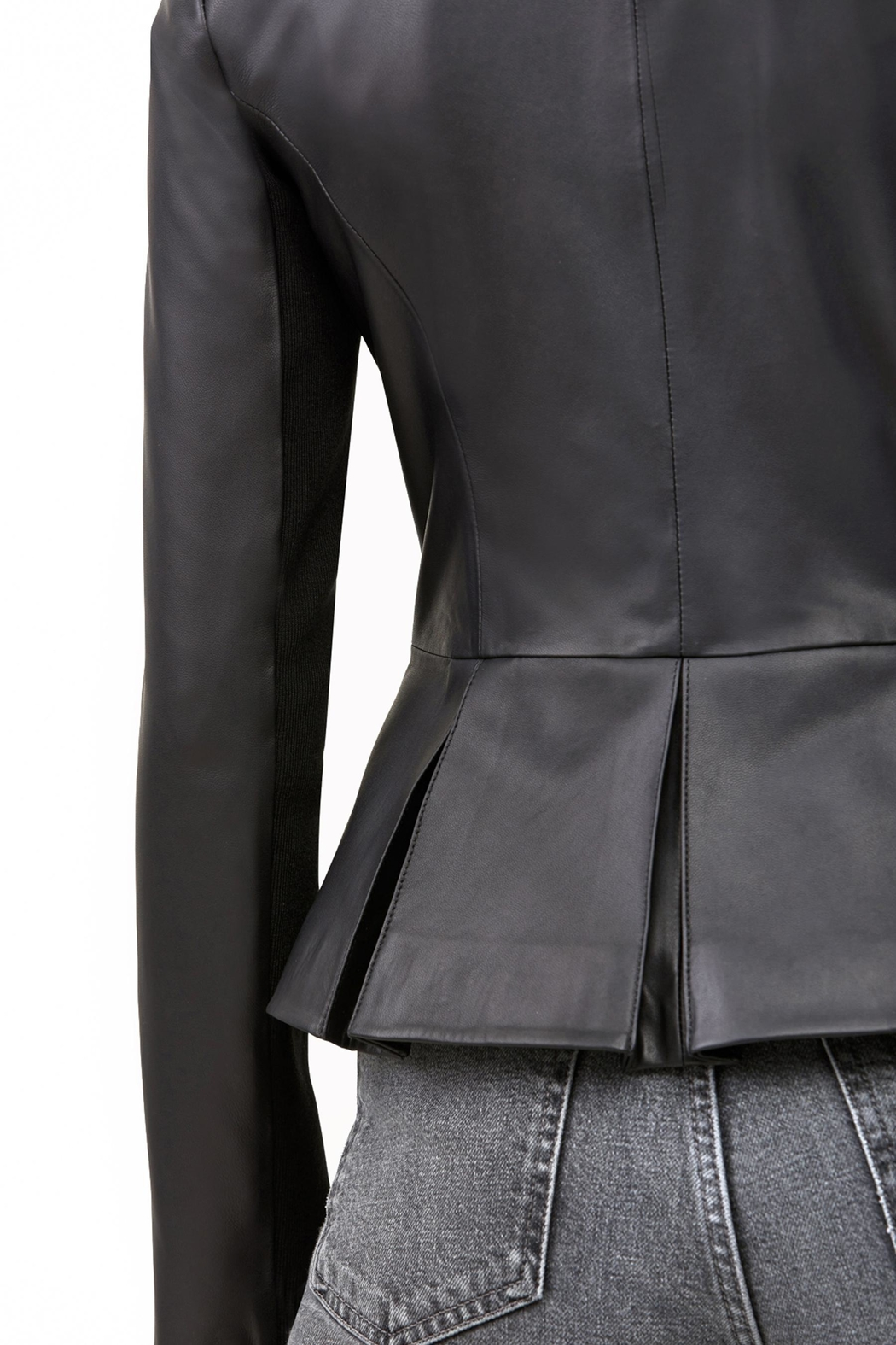 Soia & Kyo Genevieve Leather Jacket - Back Cropped Image