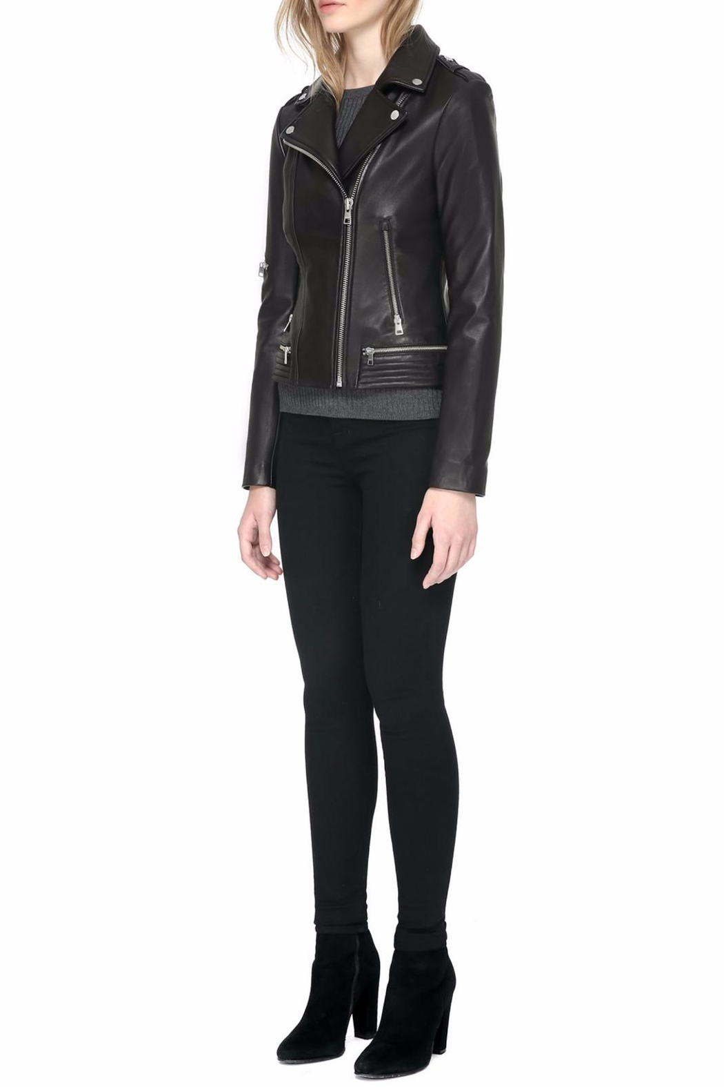 Soia & Kyo Jasmina Leather Jacket - Side Cropped Image