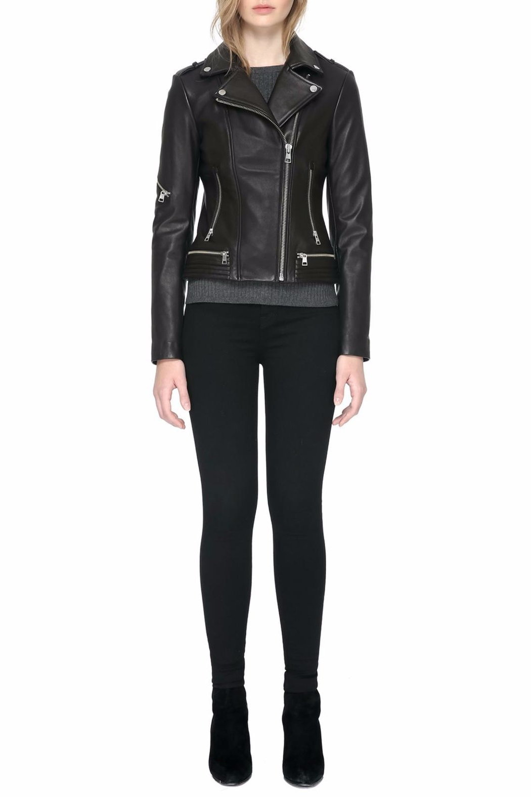 Soia & Kyo Jasmina Leather Jacket - Front Full Image