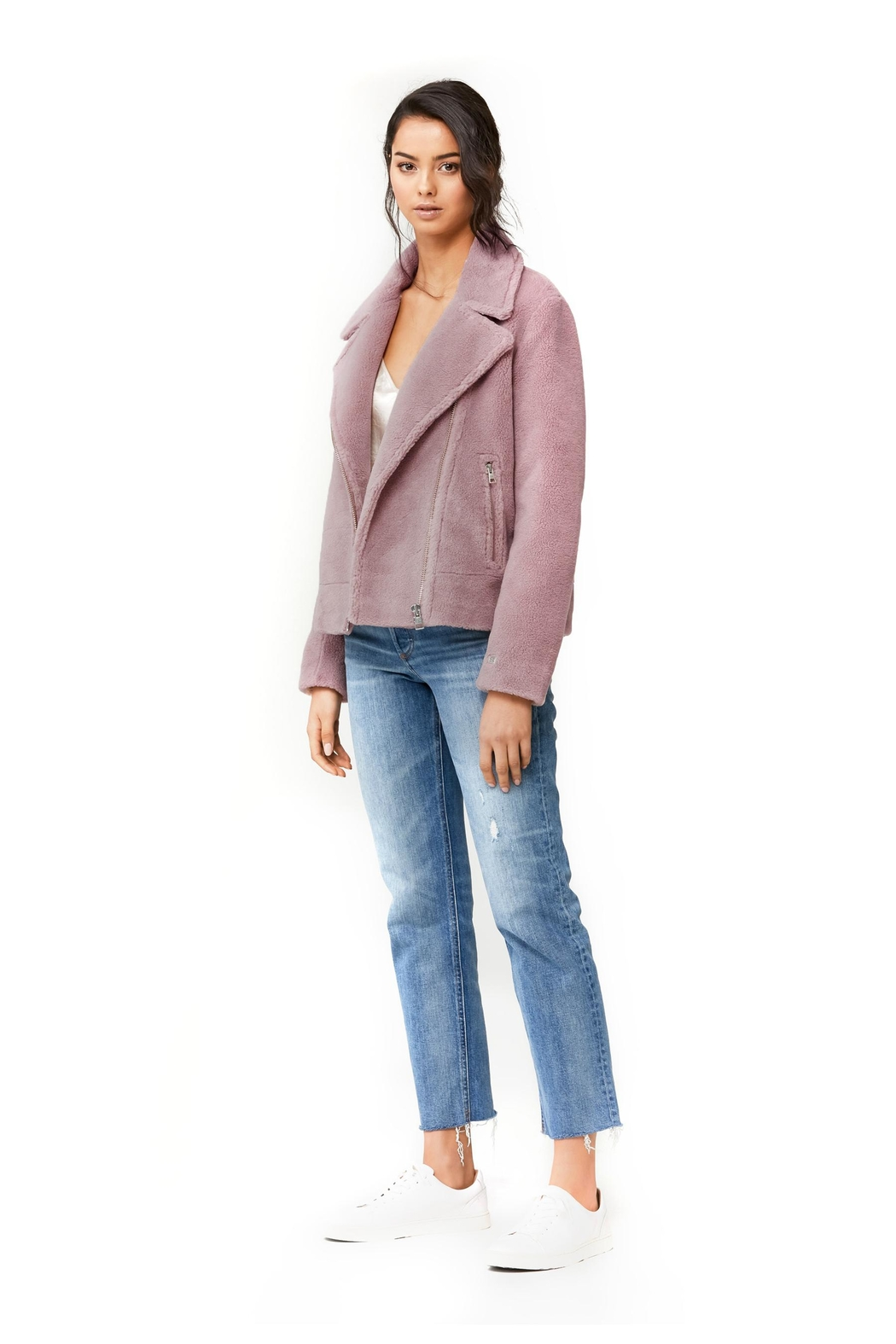 Soia & Kyo Laure Sherpa Jacket - Side Cropped Image