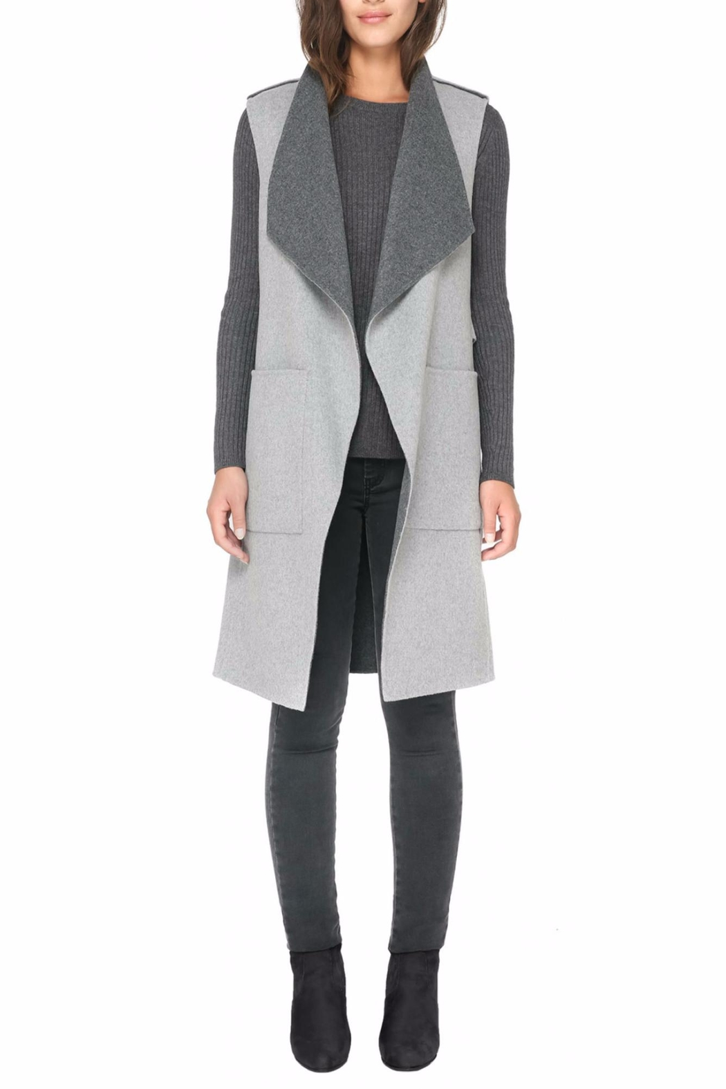 Soia & Kyo Linn Wool Vest - Front Cropped Image