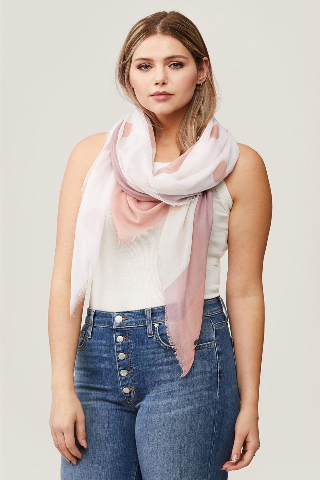 Soia & Kyo Marta Dot Scarf - Front Full Image